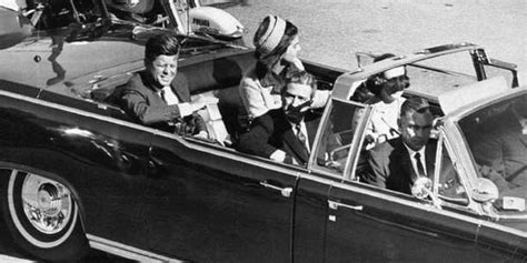 John F. Kennedy right before shots fired