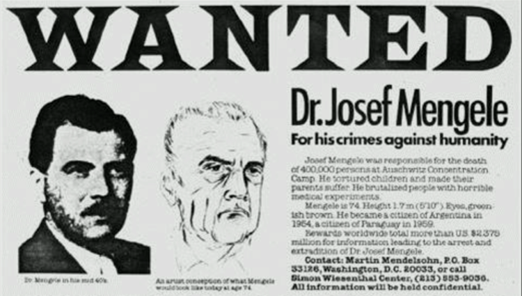Dr. Mengele was not the only health criminal